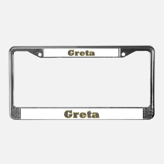 Greta Gold Diamond Bling License Plate Frame