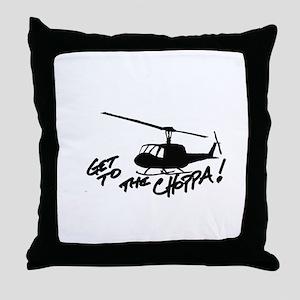 choppa get to Throw Pillow