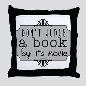 Book vs Movie Throw Pillow