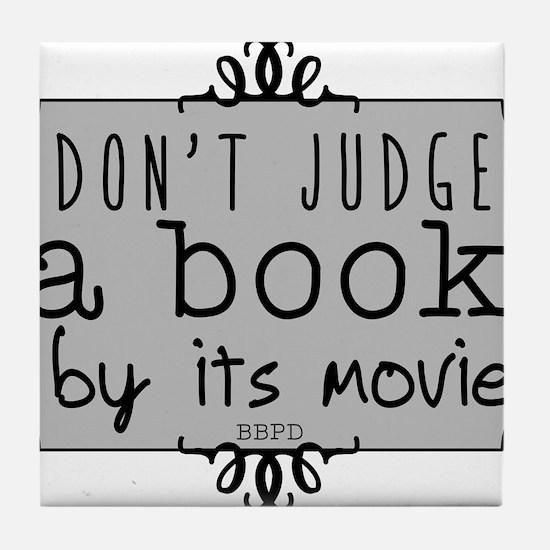 Book vs Movie Tile Coaster