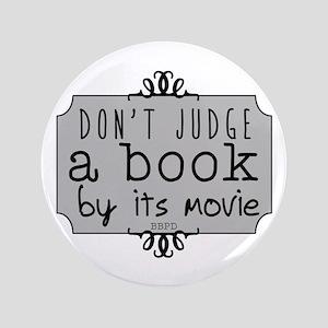 """Book vs Movie 3.5"""" Button"""