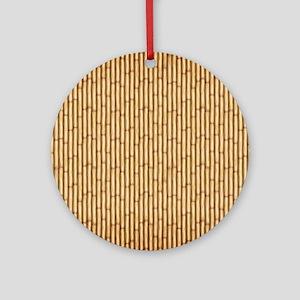 Bamboo  Screen Round Ornament
