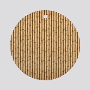Bamboo  Screen Round Ornament