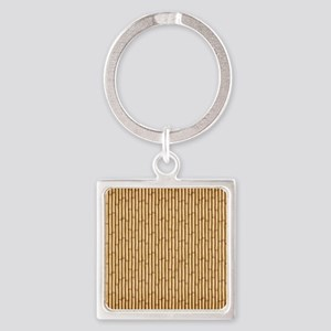 Bamboo  Screen Square Keychain