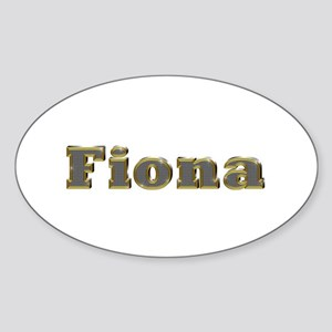 Fiona Gold Diamond Bling Oval Sticker