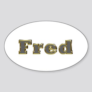 Fred Gold Diamond Bling Oval Sticker