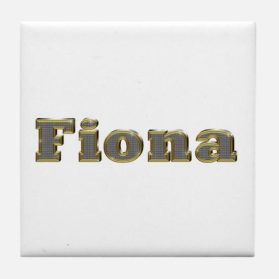 Fiona Gold Diamond Bling Tile Coaster
