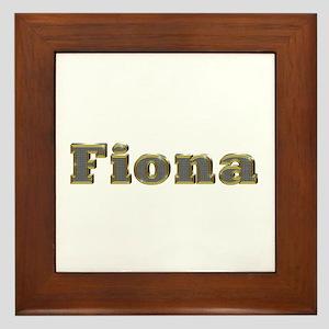 Fiona Gold Diamond Bling Framed Tile