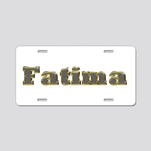 Fatima Gold Diamond Bling Aluminum License Plate