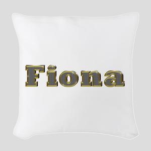 Fiona Gold Diamond Bling Woven Throw Pillow