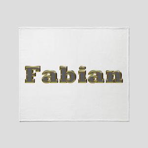 Fabian Gold Diamond Bling Throw Blanket