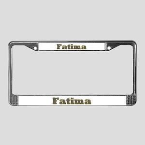 Fatima Gold Diamond Bling License Plate Frame