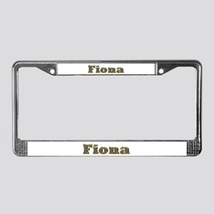 Fiona Gold Diamond Bling License Plate Frame