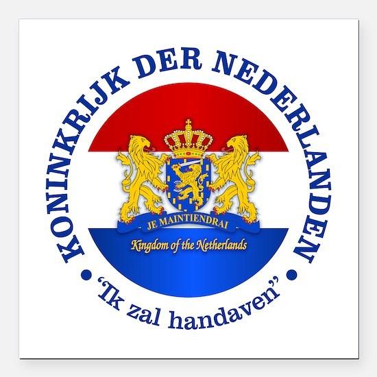 "Kingdom of the Netherlands Square Car Magnet 3"" x"