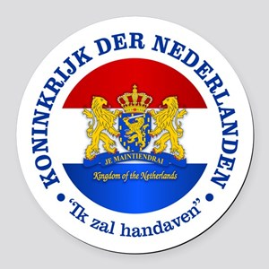 Kingdom of the Netherlands Round Car Magnet