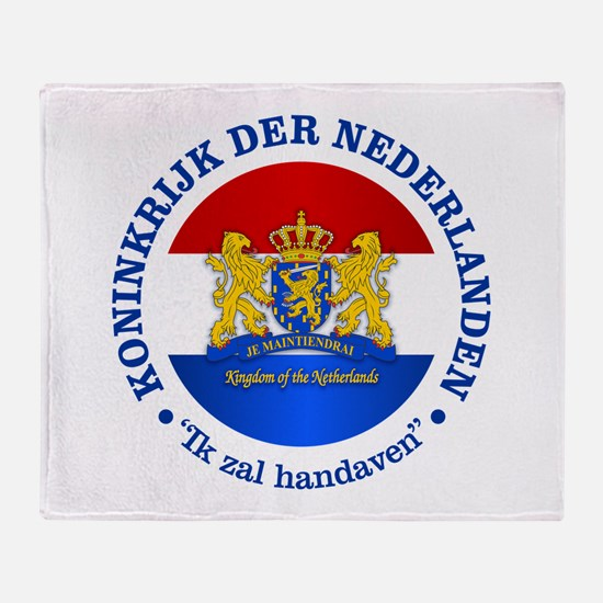 Kingdom of the Netherlands Throw Blanket