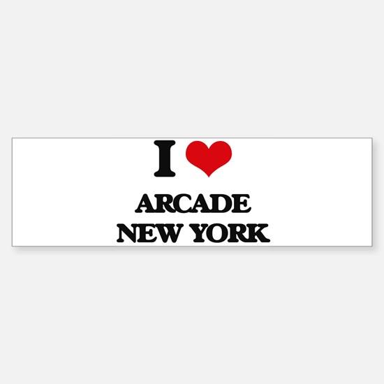 I love Arcade New York Bumper Bumper Bumper Sticker