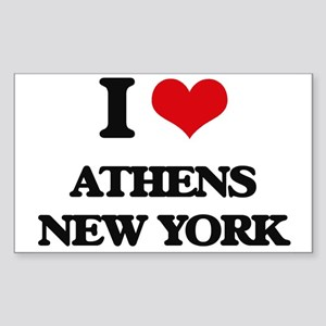 I love Athens New York Sticker