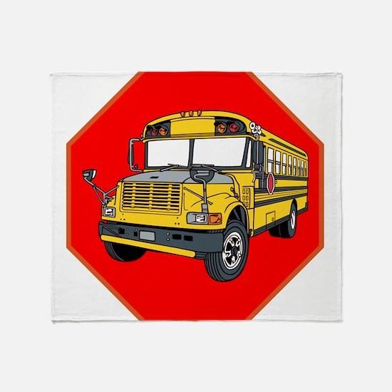 School Bus Driver Throw Blanket