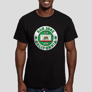San Jose Men's Fitted T-Shirt (dark)