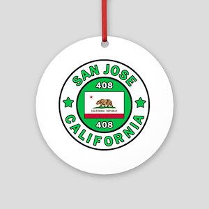 San Jose Round Ornament