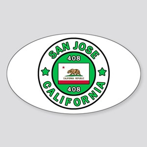 San Jose Sticker (Oval)