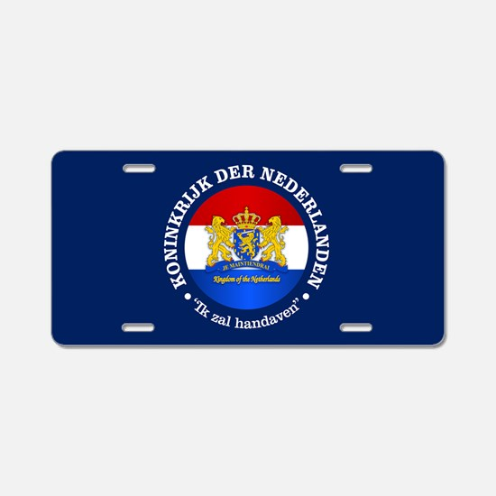 Kingdom of the Netherlands Aluminum License Plate