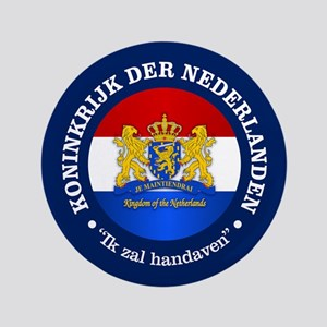 """Kingdom of the Netherlands 3.5"""" Button"""