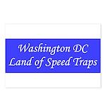 Washington DC Land of Speed Traps Postcards (Packa