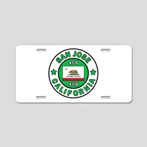 San Jose Aluminum License Plate