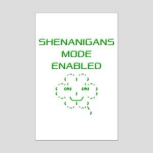 Shenanigans Mode Enabled Mini Poster Print