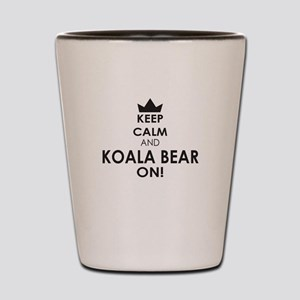 Keep Calm and Bear on Shot Glass