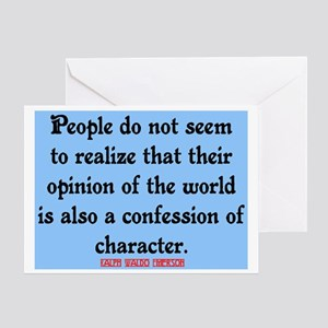 EMERSON - CHARACTOR QUOTE Greeting Card