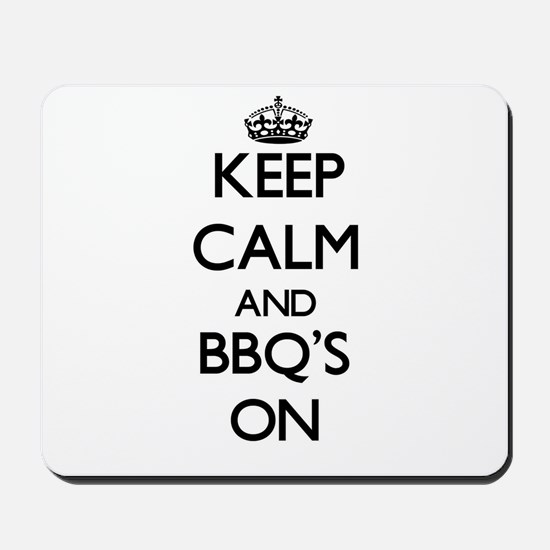 Keep calm and Bbq'S ON Mousepad