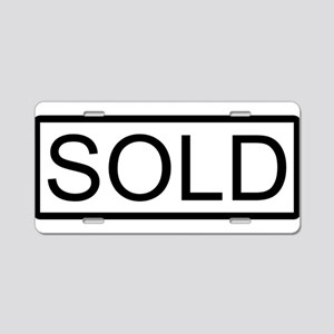 SOLD Aluminum License Plate