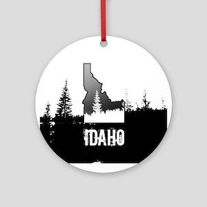 Idaho: Black and White Ornament (Round)