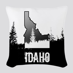 Idaho: Black and White Woven Throw Pillow