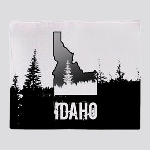 Idaho: Black and White Throw Blanket