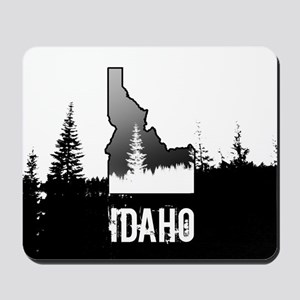Idaho: Black and White Mousepad