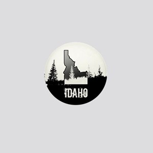 Idaho: Black and White Mini Button