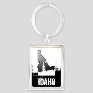 Idaho: Black and White Keychains