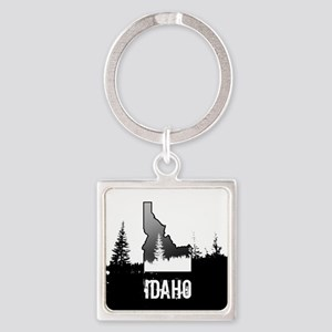 Idaho: Black and White Keychains