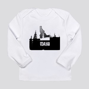 Idaho: Black and White Long Sleeve T-Shirt