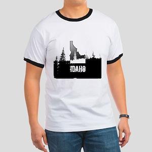 Idaho: Black and White T-Shirt
