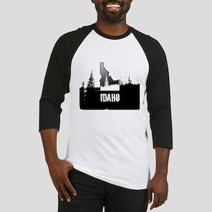 Idaho: Black and White Baseball Jersey
