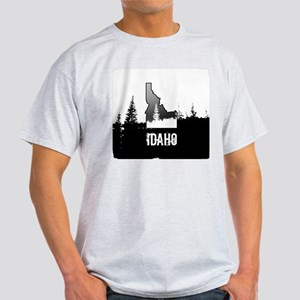 Idaho: Black and White T-Shirt
