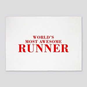 WORLDS MOST AWESOME Runner-Bod red 300 5'x7'Area R