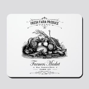 Modern vintage French vegetables Mousepad