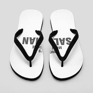 WORLDS MOST AWESOME Salesman-Akz gray 500 Flip Flo