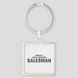 WORLDS MOST AWESOME Salesman-Akz gray 500 Keychain